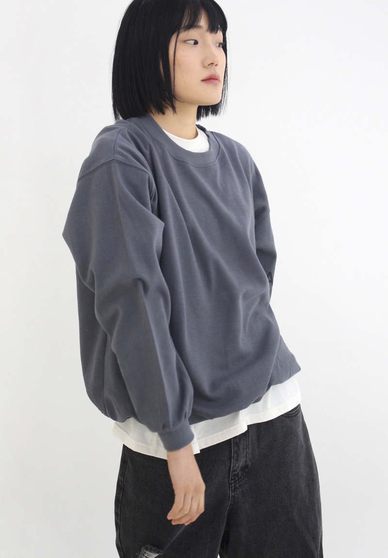 Logo Over-Fit Sweatshirt_Deep Blue