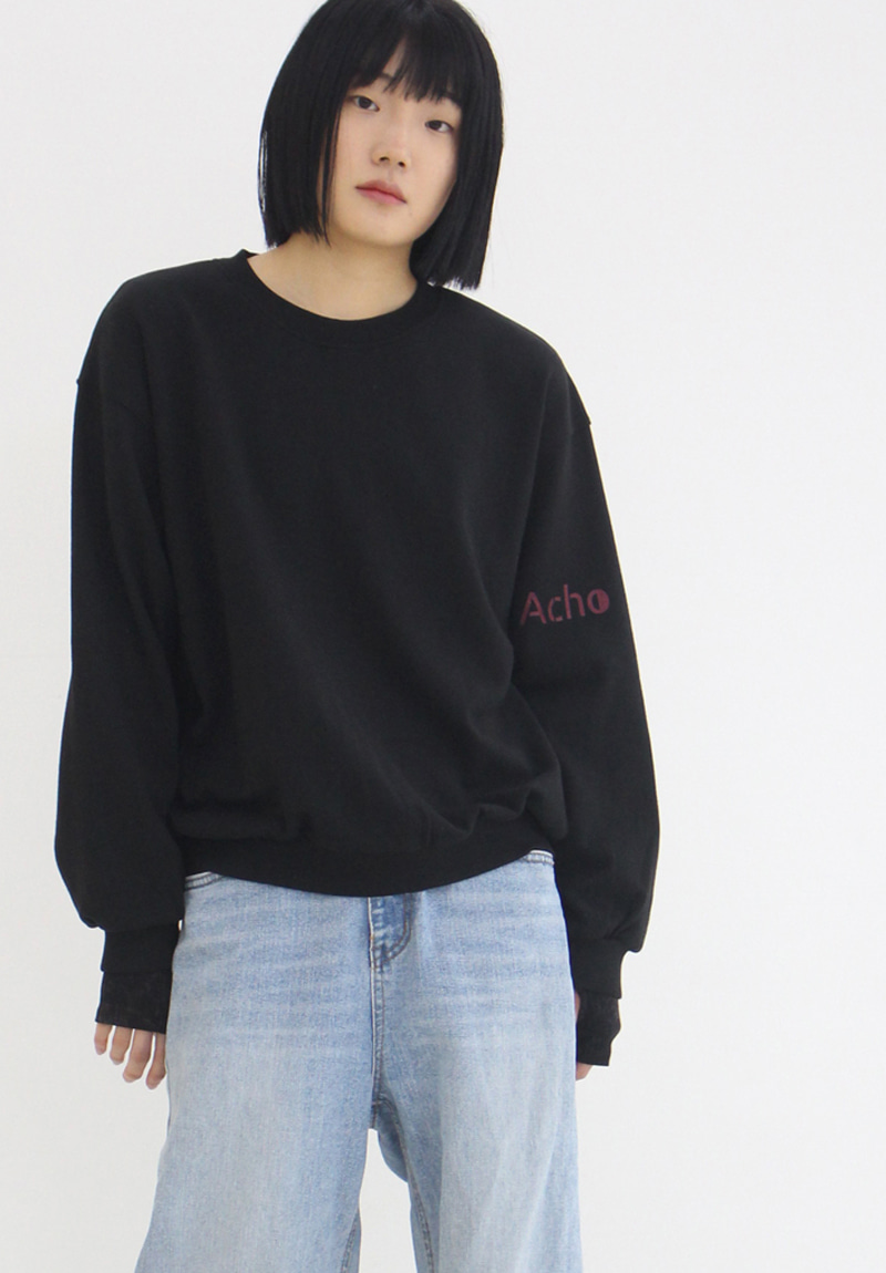 Logo Over-Fit Sweatshirt_Black[1장남음]