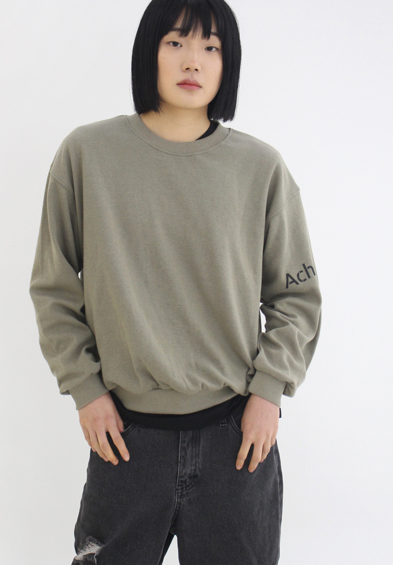 Logo Over-Fit Sweatshirt_Khaki