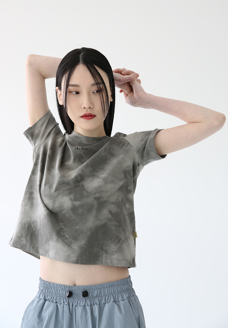 Premium Cotton Tie-Dye T-shirt_DeepGray